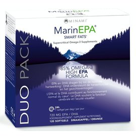 MINAMI NUTRITION OMEGA 3 MINAMI MARINEPA SMART FATS EPA FORMULE 85% OMEGA 3 - DUO PACK (2 x 60 SOFTGELS)
