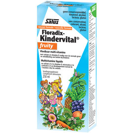 SALUS HAUS FLORADIX-KINDERVITAL FRUITY MULTIVITAMINE AVEC CALCIUM ET VITAMINE D (250 ML)