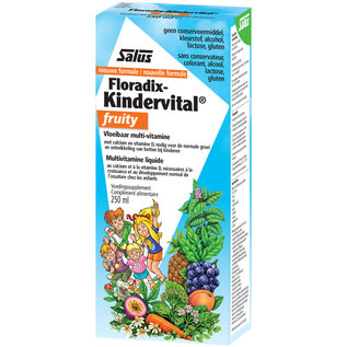 SALUS HAUS FLORADIX-KINDERVITAL FRUITY MULTIVITAMINE MET CALCIUM EN VITAMINE D (250 ML)