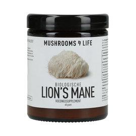 MUSHROOMS 4 LIFE LION'S MANE BIOLOGISCH PADDENSTOELEN POEDER (60 G)