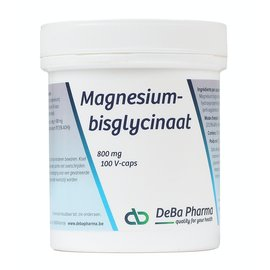 DEBA PHARMA HEALTH PRODUCTS MAGNESIUMBISGLYCINAAT - MAXIMALE OPNAME (100 V-CAPS)