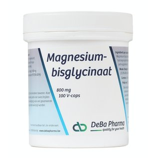 DEBA PHARMA HEALTH PRODUCTS MAGNESIUMBISGLYCINAAT - MAXIMALE OPNAME (100 V-CAPS)
