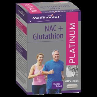 MANNAVITAL NATURAL PRODUCTS NAC + GLUTATHION PLATINUM (60 V-CAPS)