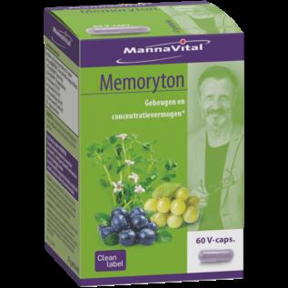MANNAVITAL NATURAL PRODUCTS MEMORYTON MÉMOIRE ET CONCENTRATION (60 V-CAPS)