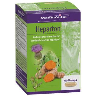 MANNAVITAL NATURAL PRODUCTS HEPARTON - ONDERSTEUNT DE LEVERFUNCTIE (60 V-CAPS)