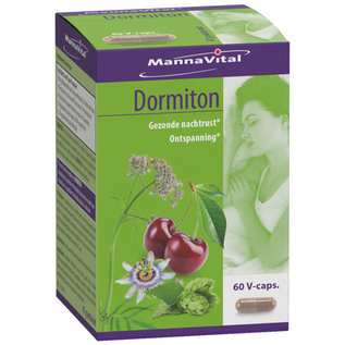 MANNAVITAL NATURAL PRODUCTS DORMITON - GEZONDE NACHTRUST (60 V-CAPS)