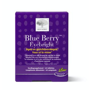 NEW NORDIC  BLUE BERRY EYEBRIGHT YEUX ET VISION (60 COMPRIMÉS)