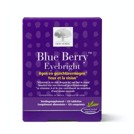 NEW NORDIC  BLUE BERRY EYEBRIGHT OGEN EN GEZICHT (120 TABLETTEN)