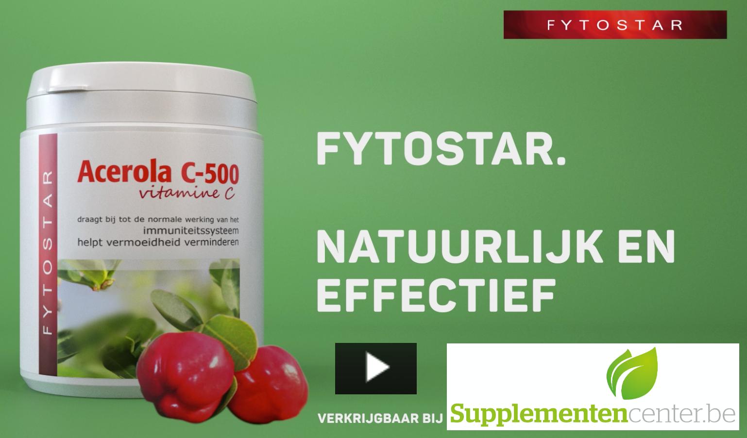 Fytostar Acerola Vitamine C - Natuurlijk en Effectief