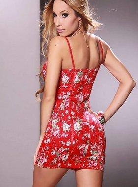 Adidas Roter Blumendruck-Kleid