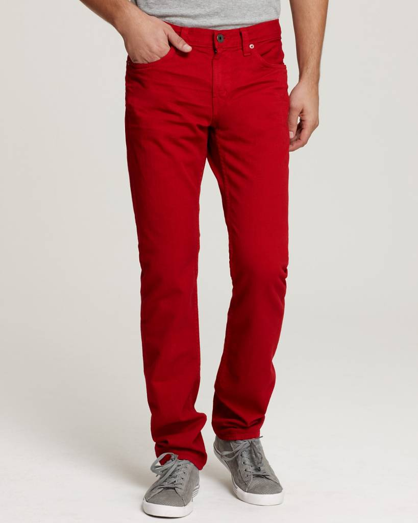 Denim Herren Jeans - red