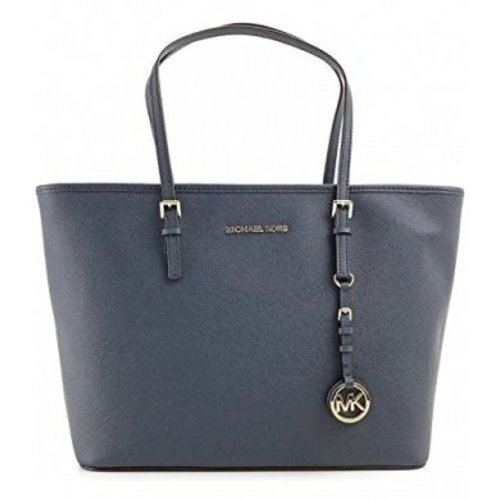 Michael Kors Jet Set Travel Medium TZ Tote Navy 30S4GTVT2L
