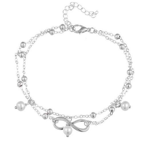 Infinity enkelbandje zilver