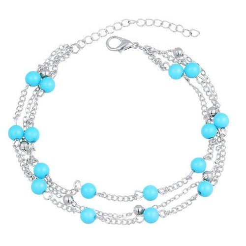 Beads enkelbandje zilver