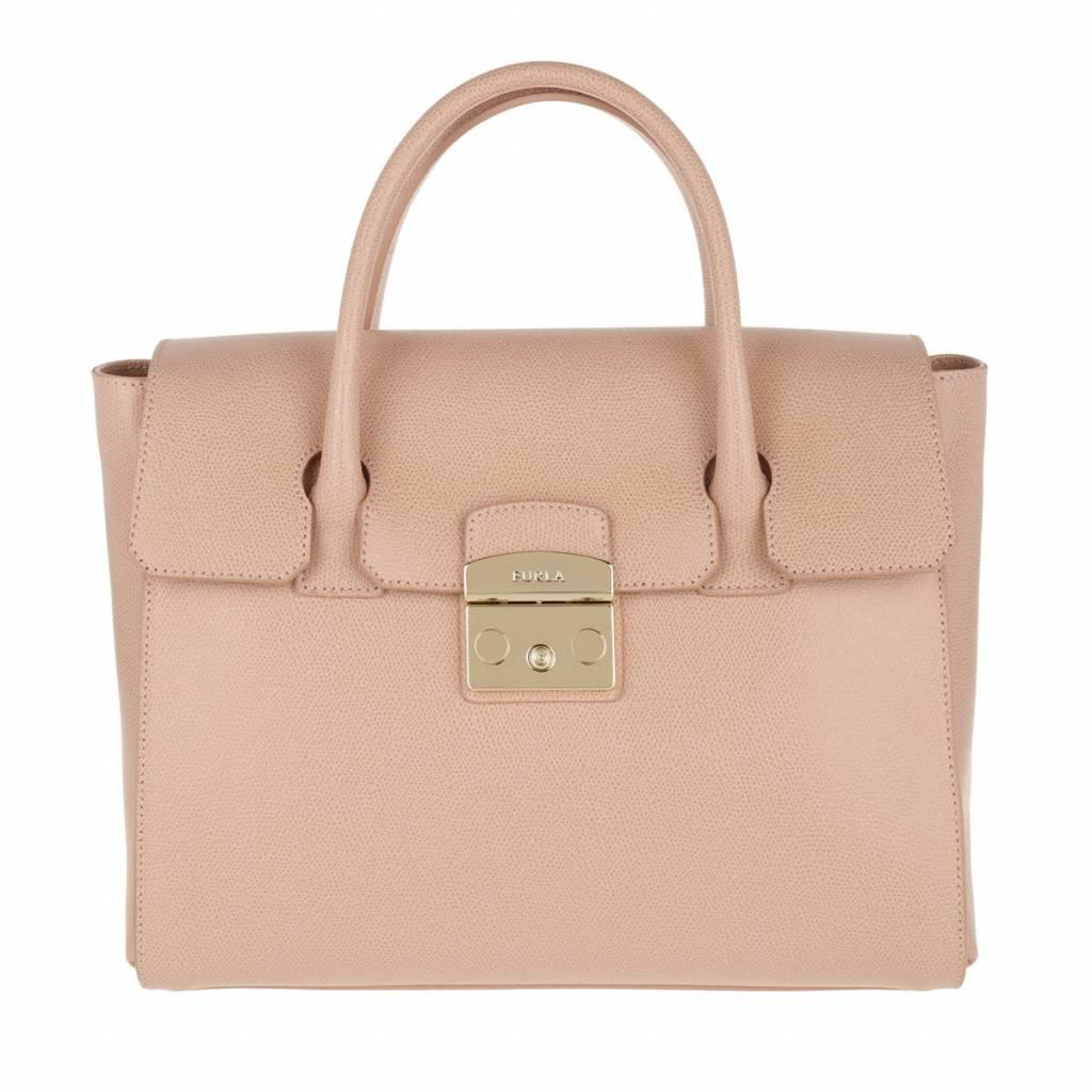 De metropolis satchel is een stijlvolle tas van het merk furla.
