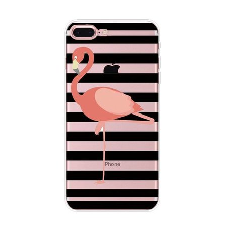 Styledeals Flamingo & stripes iPhone hoesje