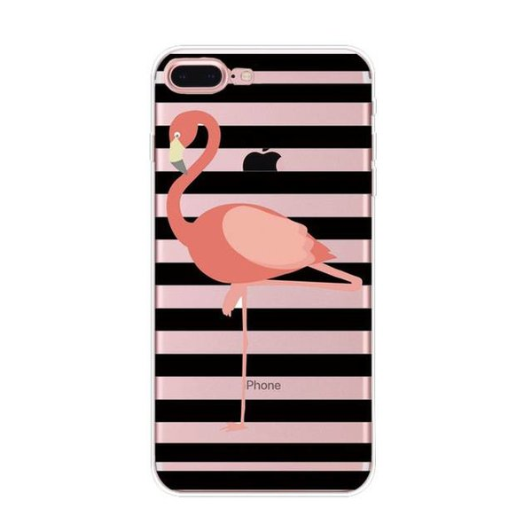 Flamingo & stripes iPhone hoesje