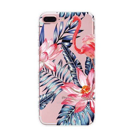 Styledeals Flamingo & flowers iPhone hoesje