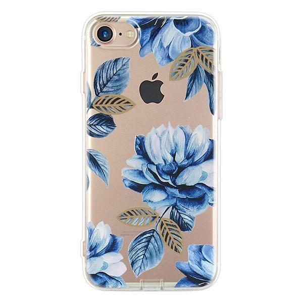 Blue flowers iPhone hoesje