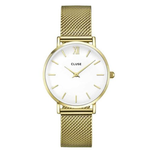 CLUSE  Minuit Mesh Gold/White CL30010 33mm