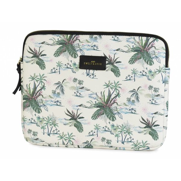 "Tablet sleeve fits 9,7"" Green leaves"