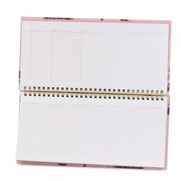 Deskplanner / gold foil details / cadillac