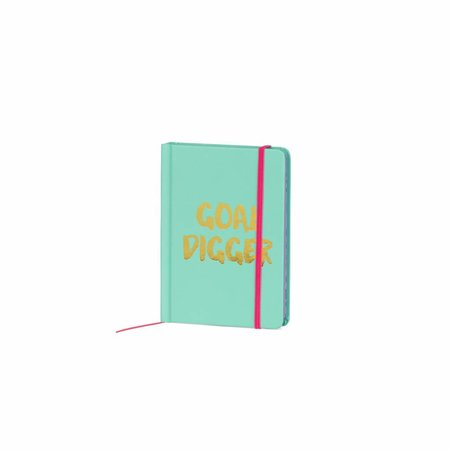 Studio Sweet & Sour  Notebook small hardcover / gold foil stamp / contrast colored edges&band jade