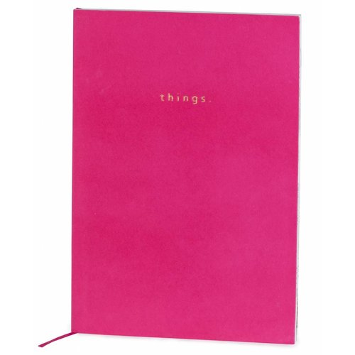 Studio Sweet & Sour  Notebook softcover super soft velvet / foil stamp / colored inner pages / pink