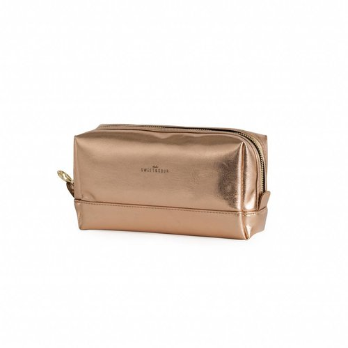 Studio Sweet & Sour  Make-up bag square medium / copper / PU