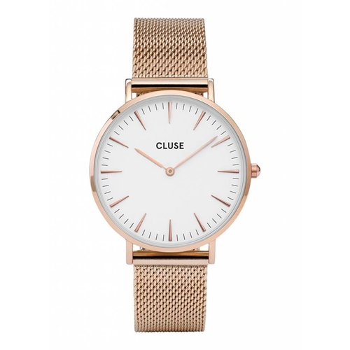 CLUSE  La Bohème Mesh Rose Gold/White CL18112 38mm