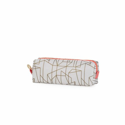 Studio Sweet & Sour  Make-up bag square small / offwhite gold allover