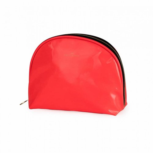 Studio Sweet & Sour  Make-up bag round medium / neon coral / PU