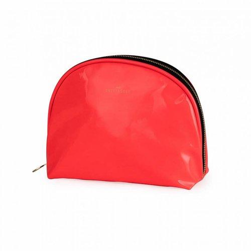 Studio Sweet & Sour  Make-up bag round medium / neon coral / PU