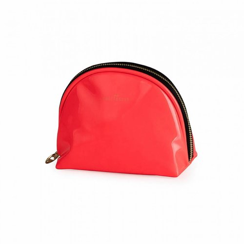 Studio Sweet & Sour  Make-up bag round small / neon coral / PU
