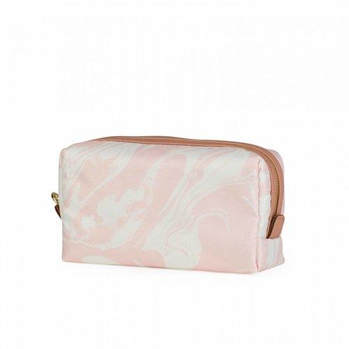 Studio Sweet & Sour  Make-up bag square medium / pink marble allover