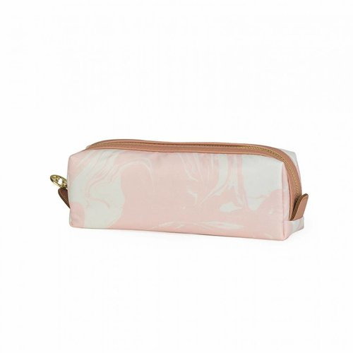Studio Sweet & Sour  Make-up bag square small / pink marble allover
