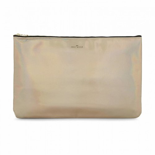 Studio Sweet & Sour  Make-up bag flat large  / gold grain / PU
