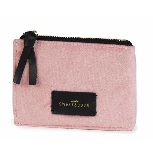 Studio Sweet & Sour  Coin pouch / super soft velvet / pink