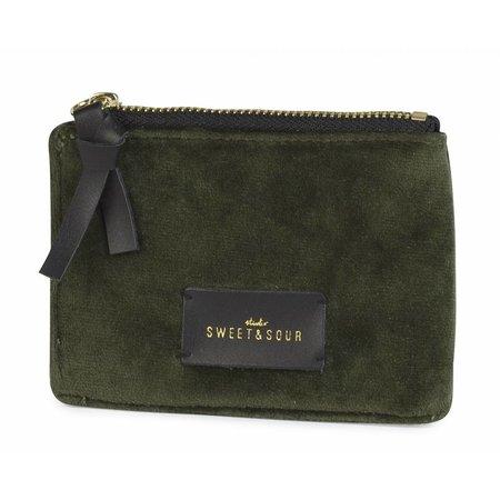 Studio Sweet & Sour  Coin pouch / super soft velvet / green
