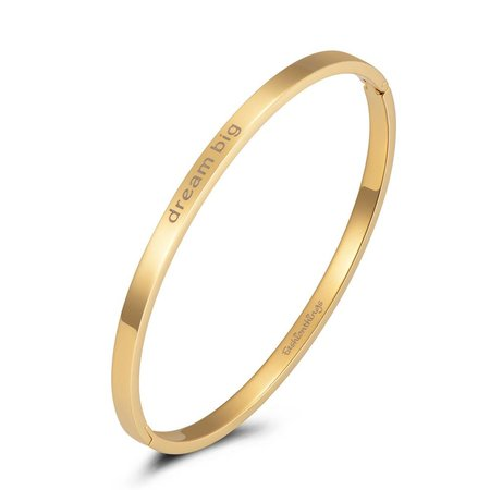 Fashionthings Bangle dream big goud 4mm