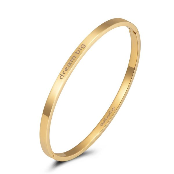 Bangle dream big goud 4mm