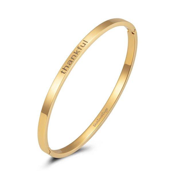 Bangle thankful goud 4mm