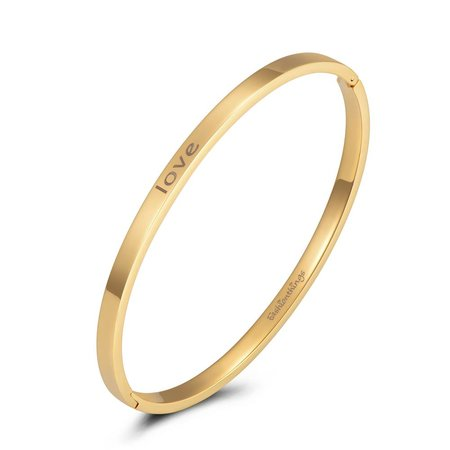 Fashionthings Bangle love goud 4mm