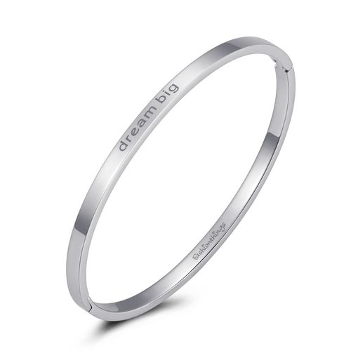 Fashionthings Bangle dream big zilver 4mm