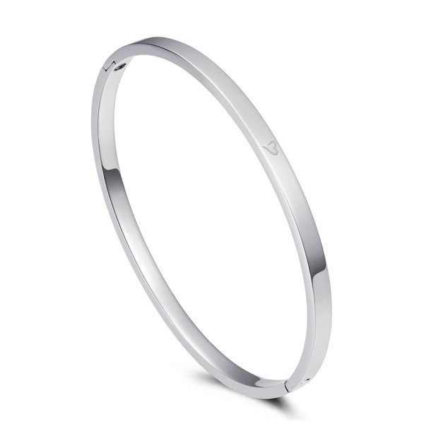 Bangle dream big zilver 4mm