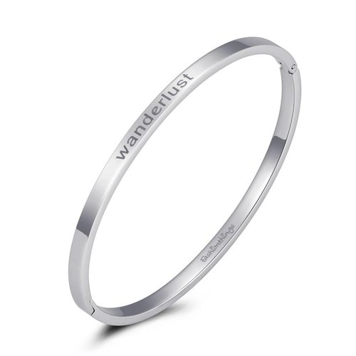 Fashionthings Bangle wanderlust zilver 4mm