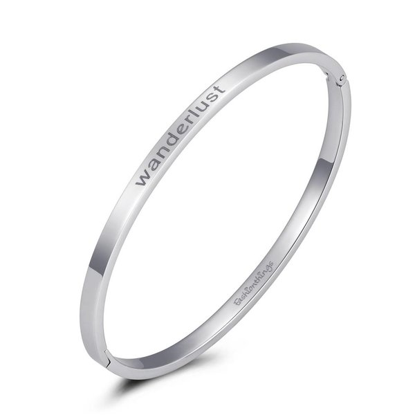 Bangle wanderlust zilver 4mm