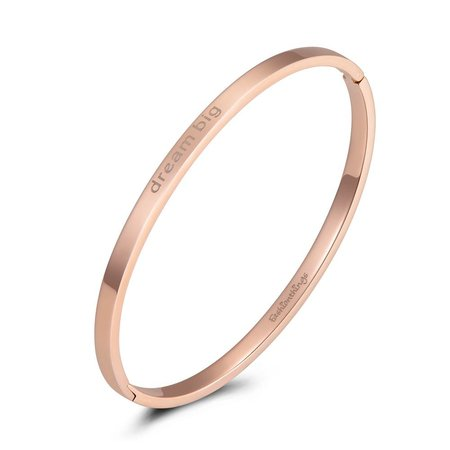 Fashionthings Bangle dream big roségoud 4mm