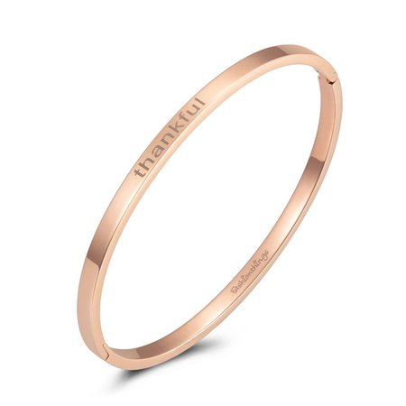 Fashionthings Bangle thankful roségoud 4mm