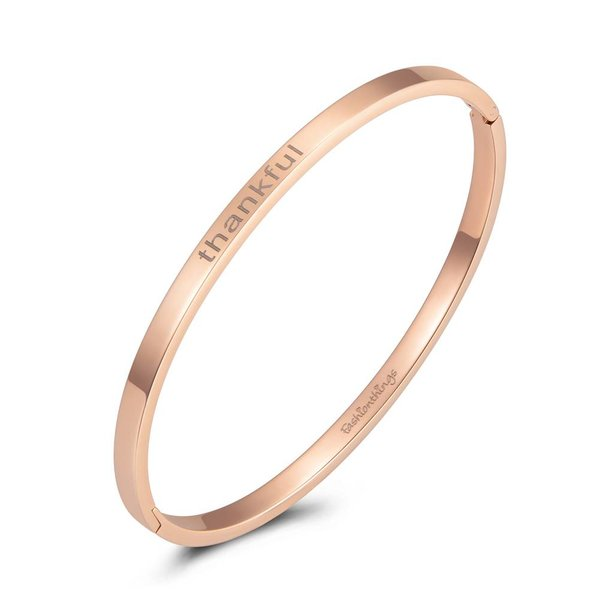 Bangle thankful roségoud 4mm